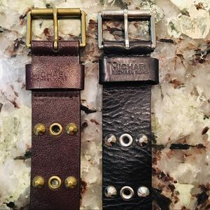 Michael Kors leather belts: black & brown